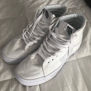 White hi top vans
